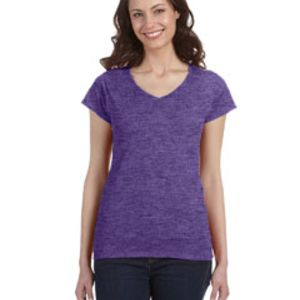 Ladies' SoftStyle® 4.5 oz. Fitted V-Neck T-Shirt Thumbnail