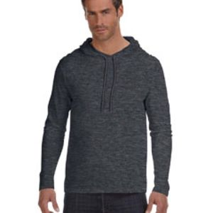 Adult Lightweight Long-Sleeve Hooded T-Shirt Thumbnail